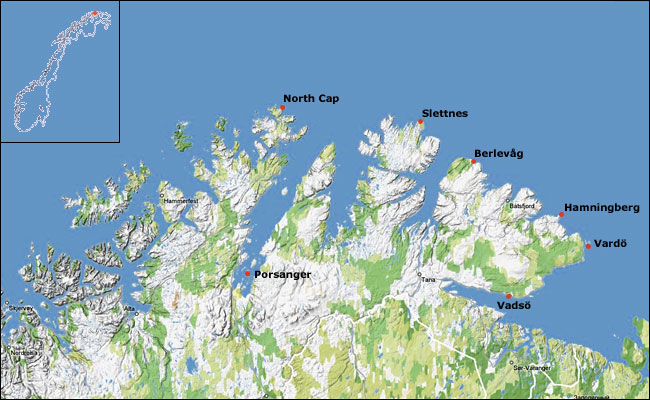 Slettnes General Information - Norway lighthouses map
